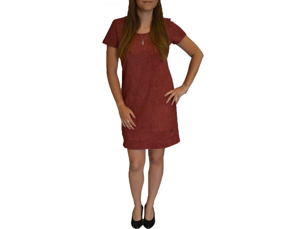 Šaty Elain cihlové