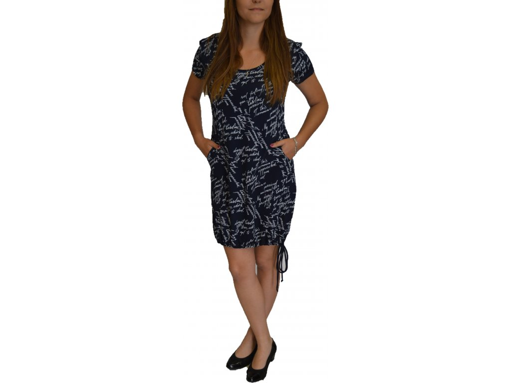 Šaty Ardewo modré s kapsami