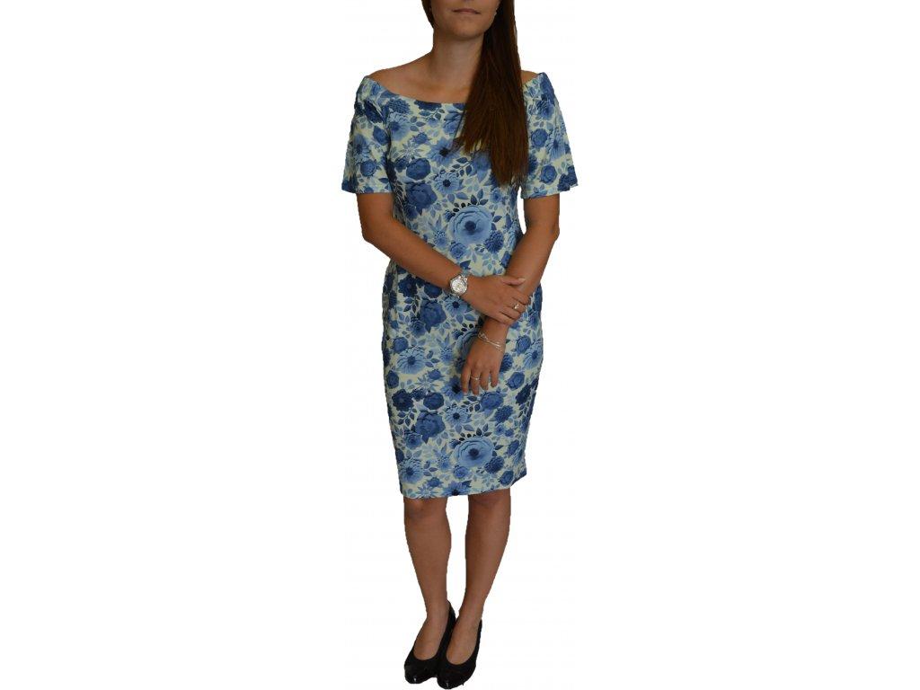 Šaty Centex modré květy