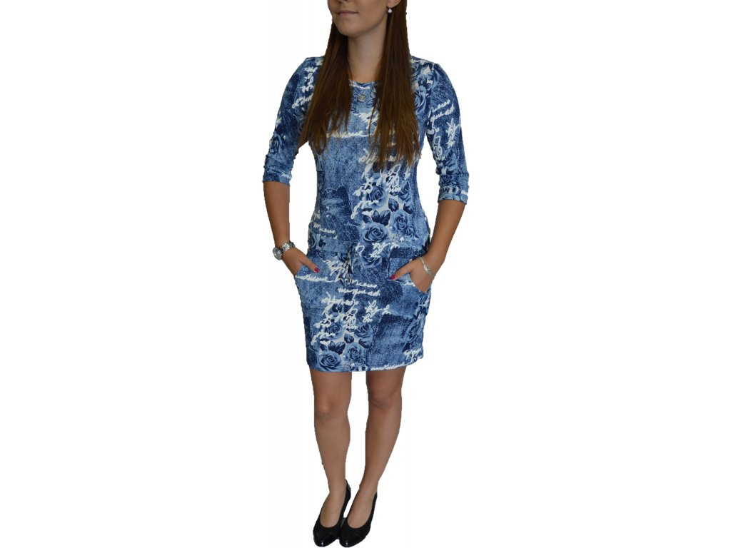Šaty- tunika Lola modré