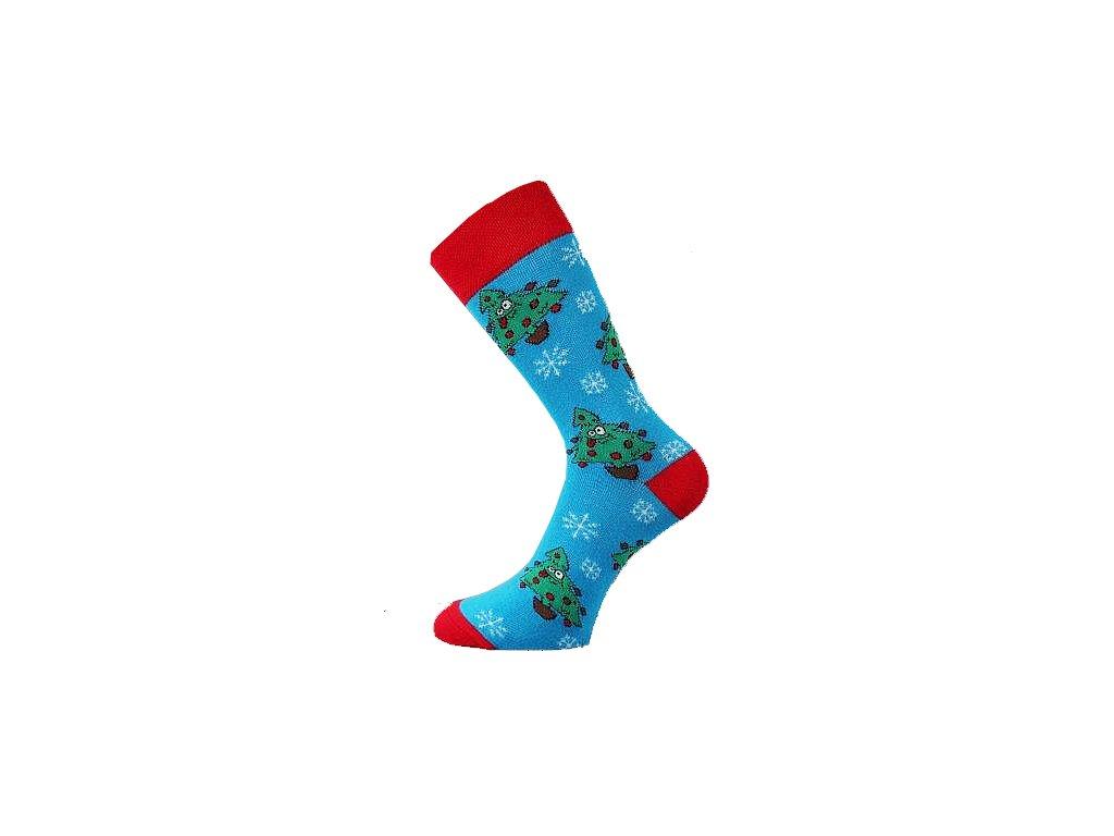 vanocni ponozky mix c stromky 2