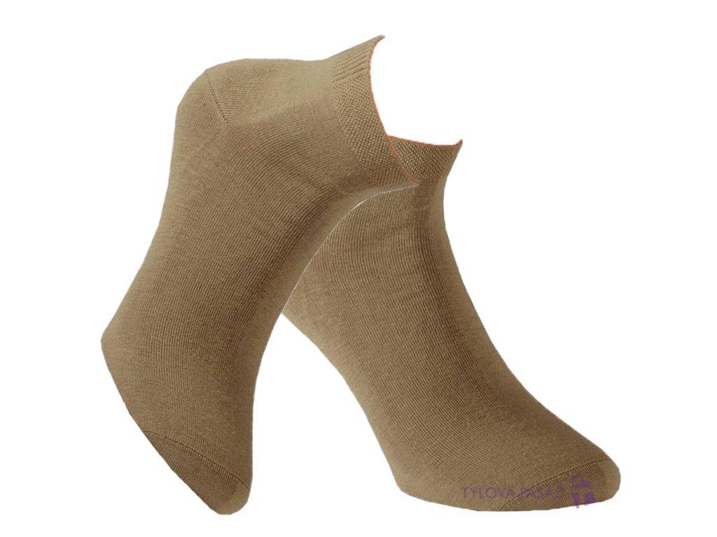 Ponožky RS béžové III. 3/4 výška