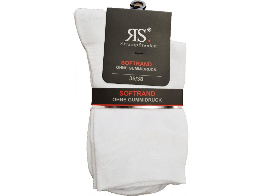 Ponožky RS vysoké - bílé