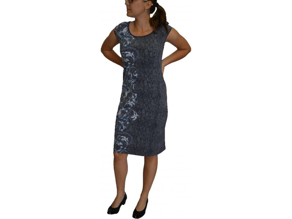 Šaty Jopess modro-šedé