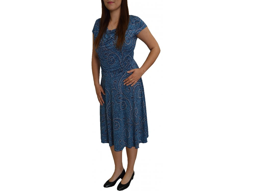 Šaty Lola modrá mozaika