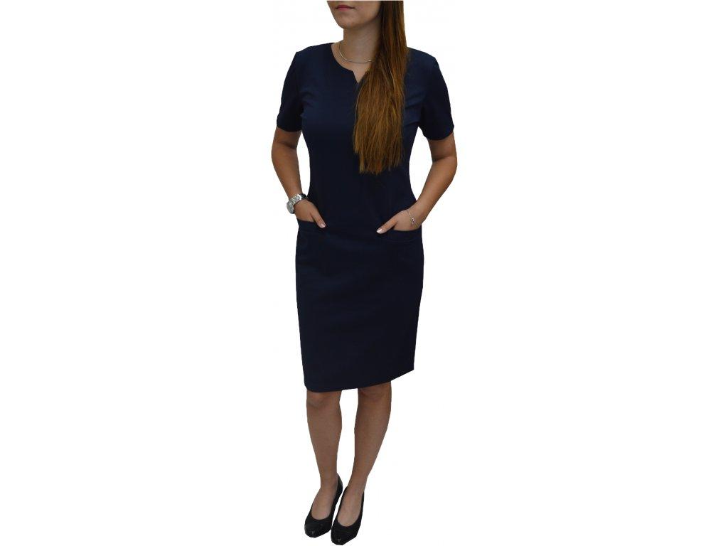 Šaty Sabatti tmavě modré