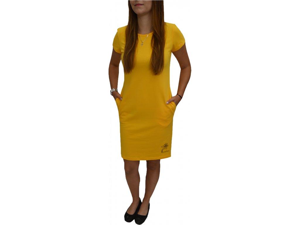 Šaty Ardewo žluté s kapsami