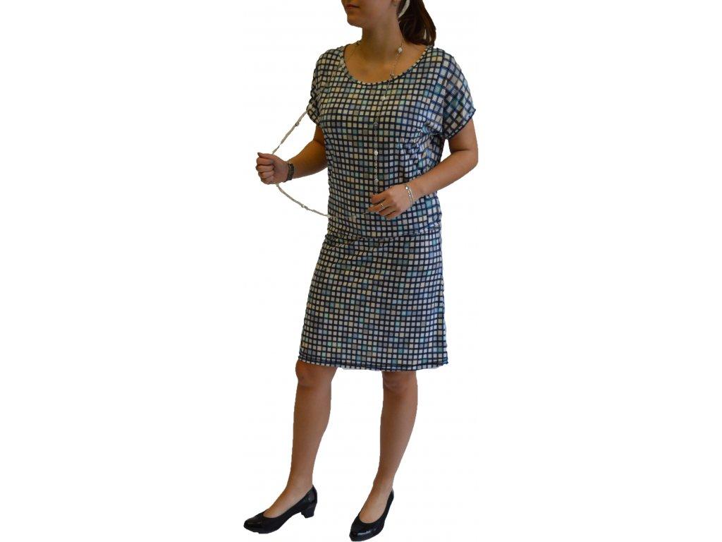 Šaty Ardewo modrá kostka
