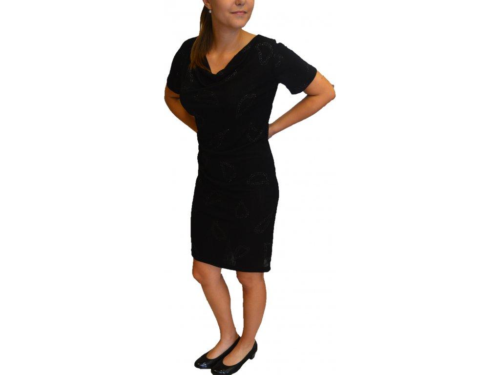 Šaty Pratto černé s vodou