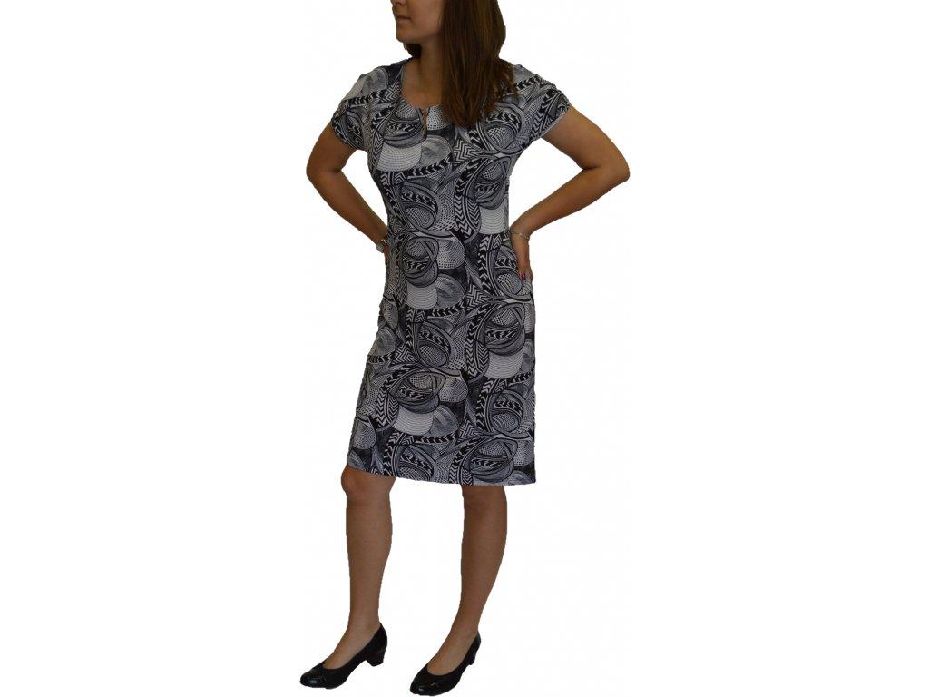 Šaty  Ina Elizabeth černo-bílé