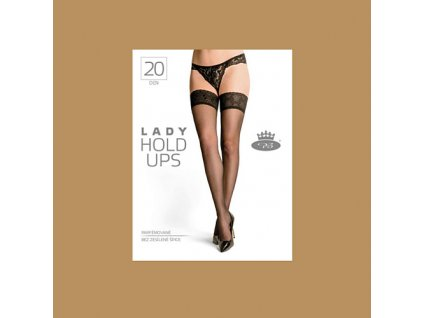 Lady hold ups beige web