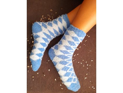 Teplé spací ponožky modré 2 páry