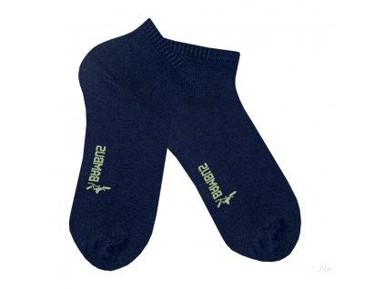 Bambusové ponožky RS kotníkové - tm. modrá