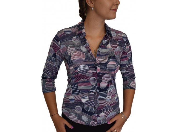 Košile Sabatti Fialové kolečka