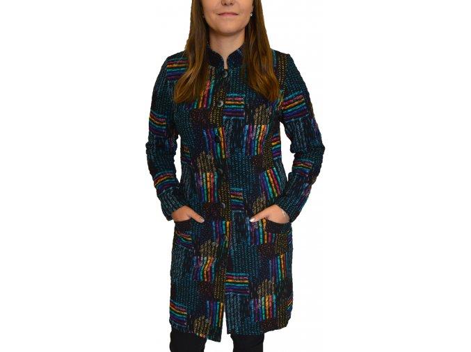 Kabát Sabatti barevná duha s kapsami