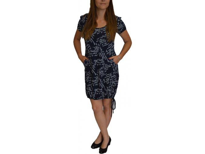 Šaty Adrewo modré s kapsami