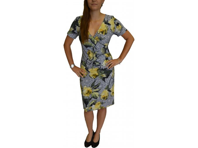 Šaty Pratto žluté