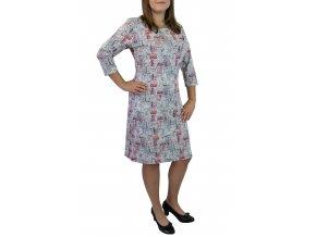 šaty sabatti  elegantní bílorůžové