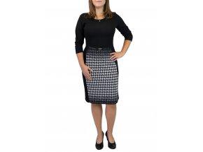 šaty sabatti elegantní s páskem