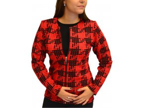 Sako Sabatti na zip červené s černým vzorem