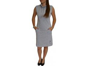 Šaty Ardewo šedé s kapsami