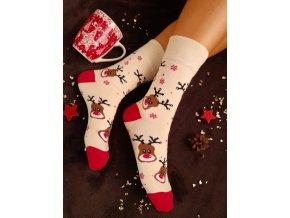 Vánoční ponožky Pondy smetanová