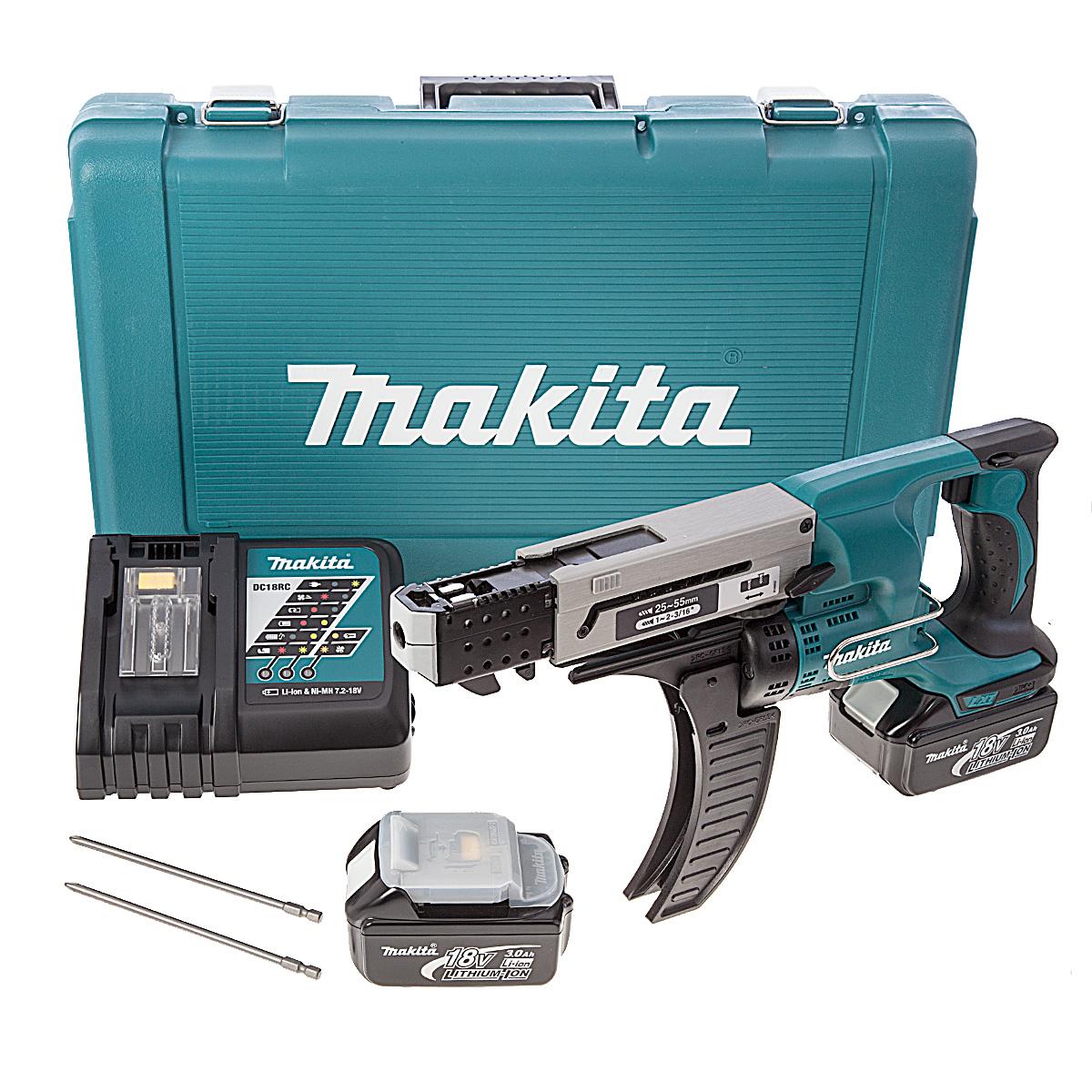 Aku šroubovák se zásobníkem Makita 25-55mm,Li-ion 18V/3,0Ah DFR550RFE