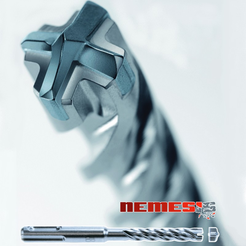 Čtyřbřité vrtáky SDS-Plus NEMESIS (Makita) sds+: 5x110/50