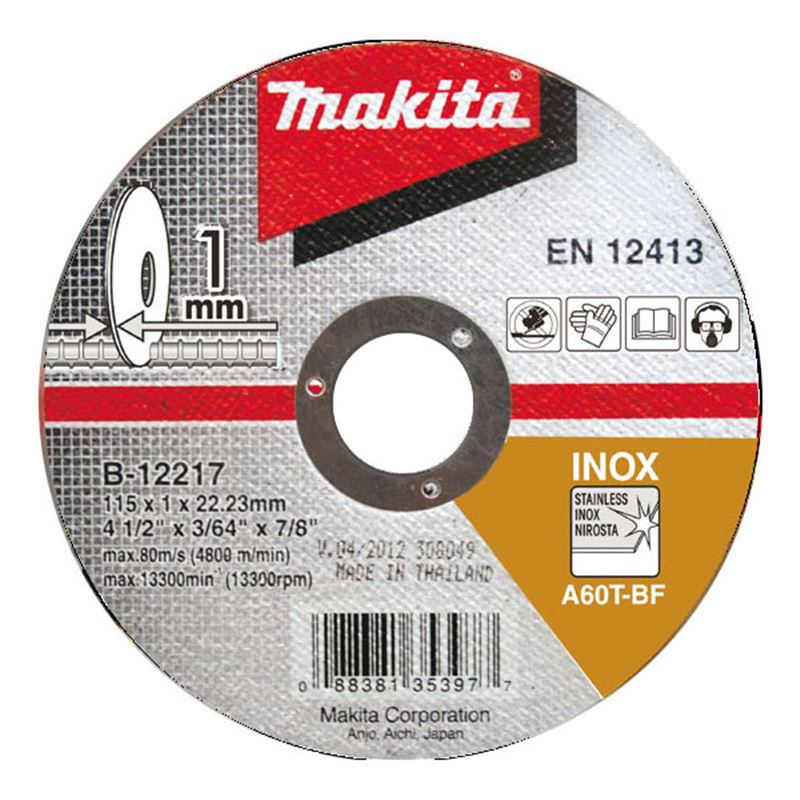 Řezný kotouč na nerez Makita Řezný kotouč: 100x22,23x1,0