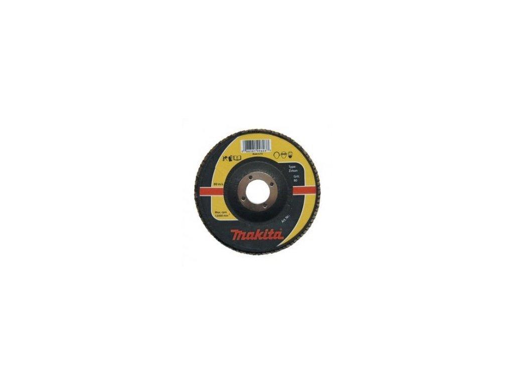 Lamelový brusný kotouč Zirkon Makita Průměr: 115mm, Zrnitost: 60