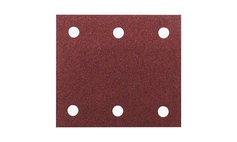 Brusný papír na suchý zip Makita 114mm x 102mm, perforovaný, 6 otvorů Zrnitost: 40, Kusů v balení: 10