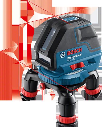 Křížový laser Bosch GLL 3-50 Professional + mini stativ RM3