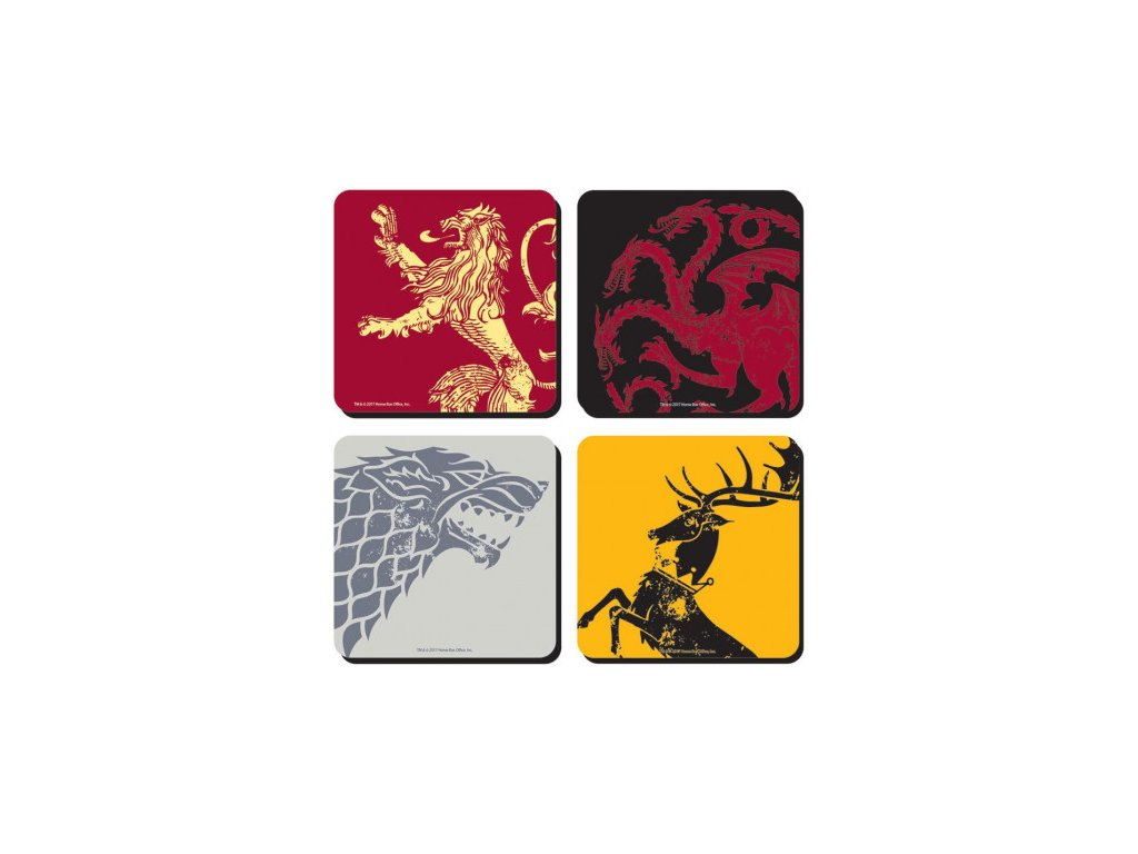 Game of Thrones podtácky - 4-Pack