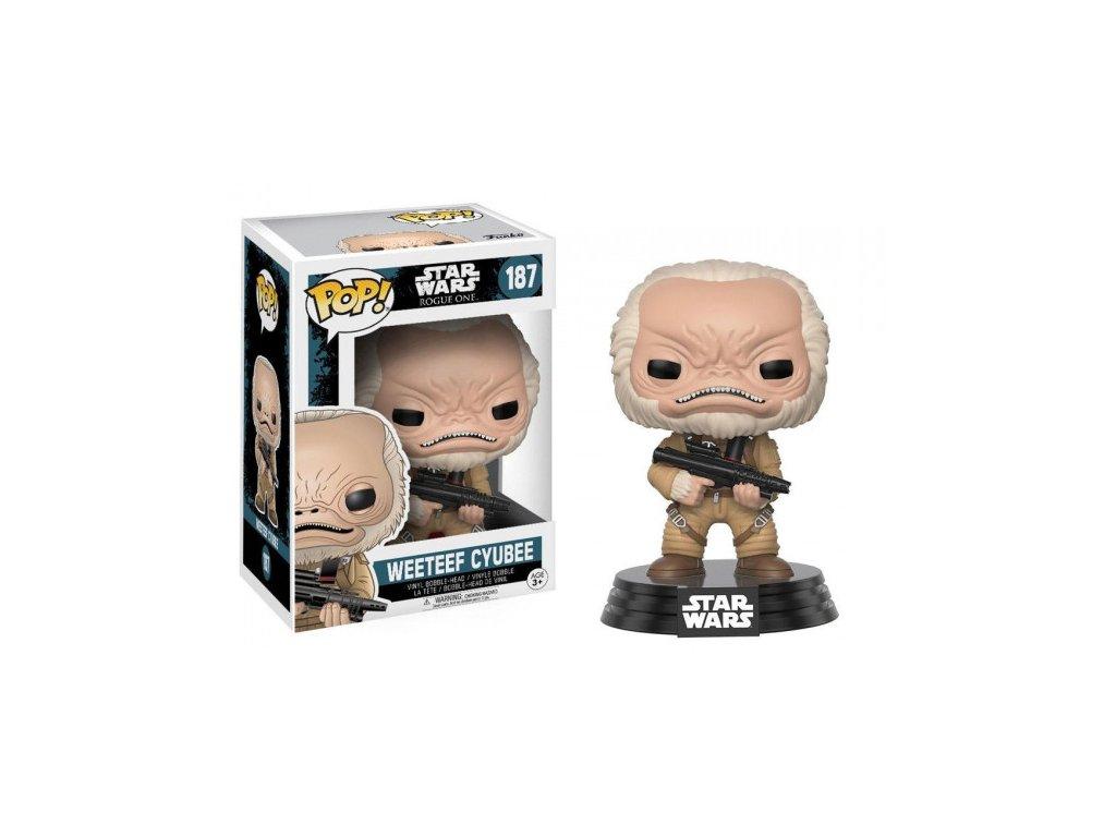Star Wars Rogue One Funko POP figurka - Weeteef Cyubee - Bobble Head