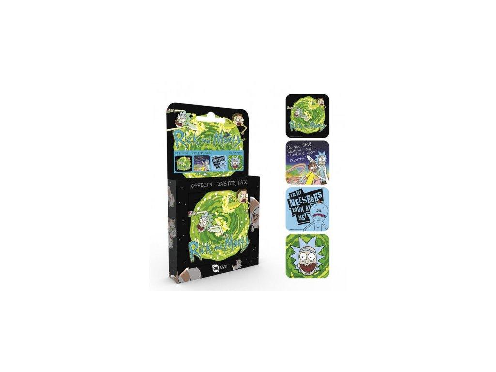 Rick a Morty Coaster 4-pack Mix