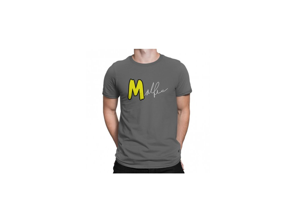 Malfix tričko s podpisem - šedá