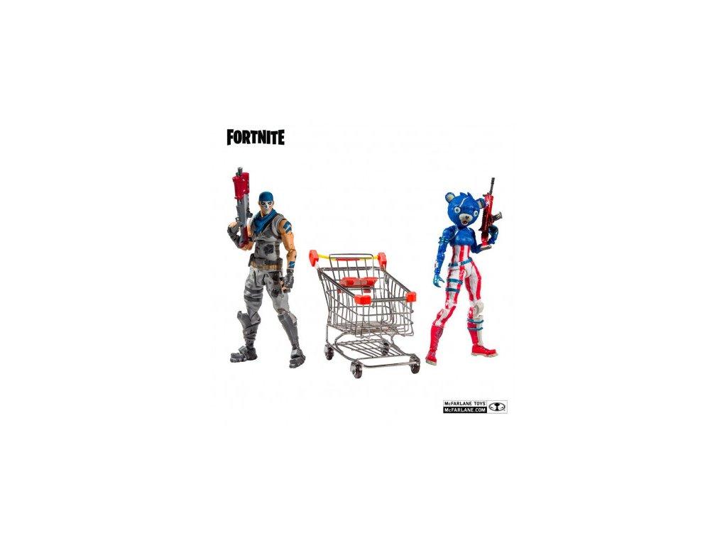 Fortnite akční figurka - Shopping Cart Pack War Paint and Fireworks Team Leader - 18 cm