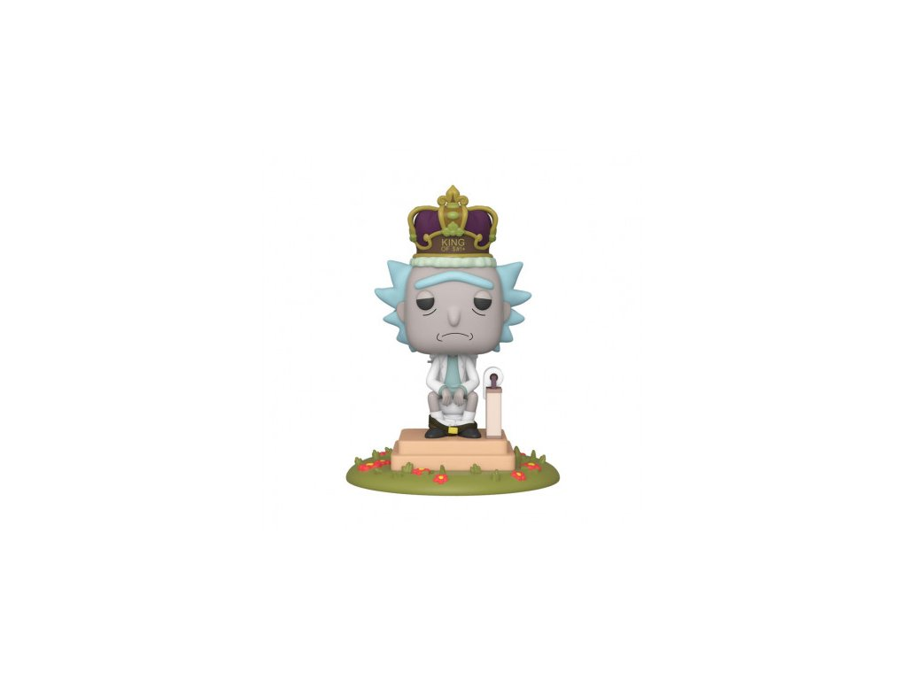 Rick a Morty Deluxe Funko figurka - King of $#!+ - 15 cm - se zvukem
