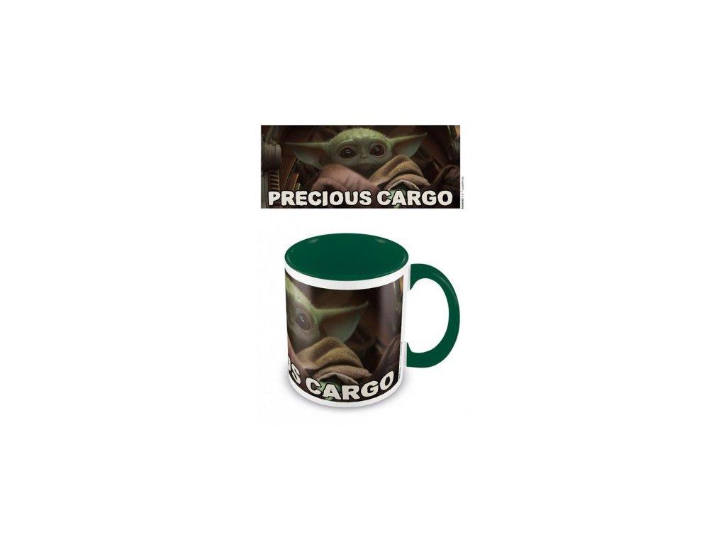 Star Wars The Mandalorian barevný hrnek - Precious Cargo