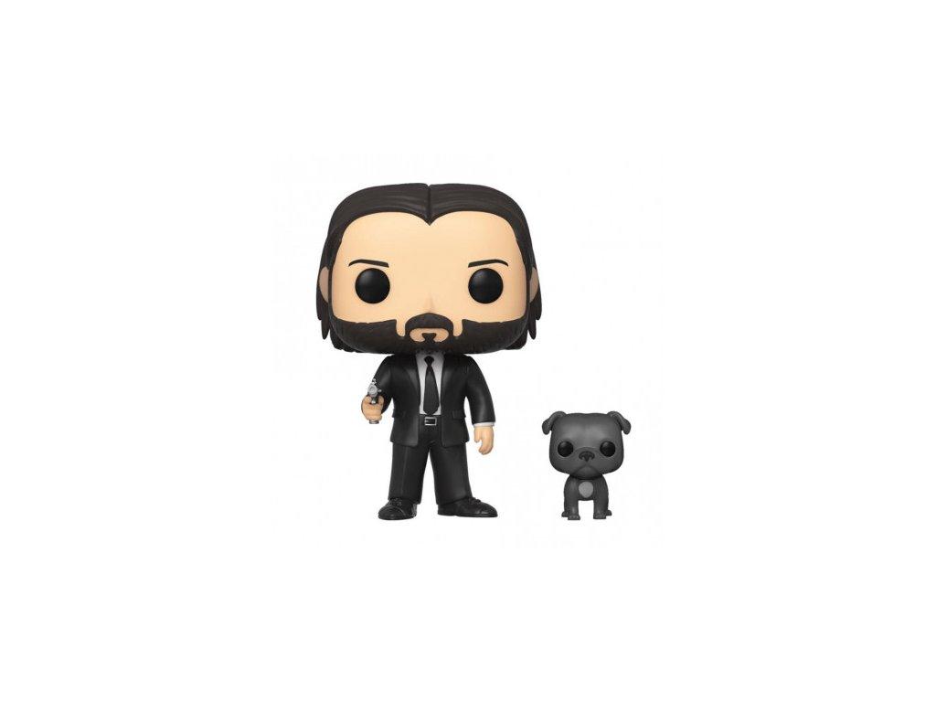 John Wick Funko figurka - John in Black Suit with Dog