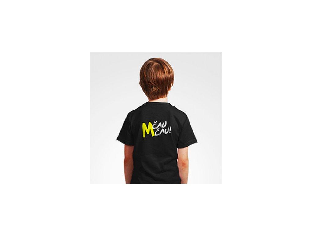 Malfix Čau Čau černé tričko dětské - logo vzadu
