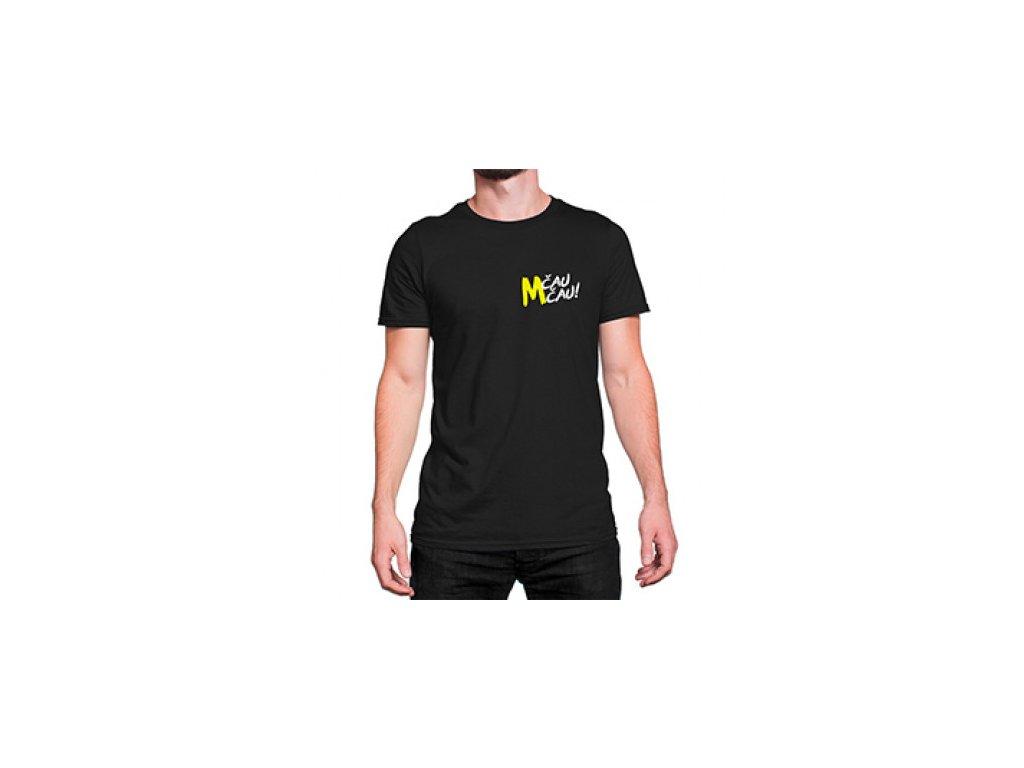 Malfix Čau Čau černé tričko - logo vpředu