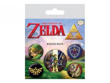Legend of Zelda - placky - 5 druhů