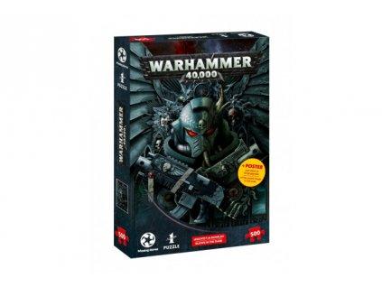 Warhammer 40k puzzle - svítící ve tmě