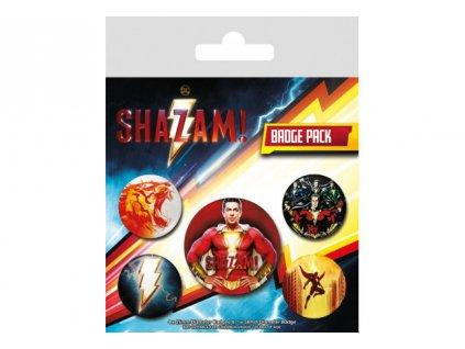 Shazam odznáčky - 5-Pack Power