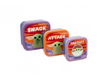 The Mandalorian - set plastových misek - The Child Snack, Attack, Protect