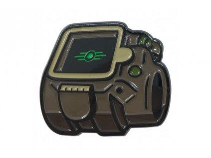 Fallout - odznáček - Vault-Tec Logo - svítící ve tmě