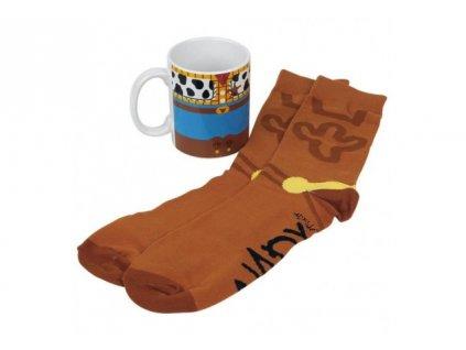 Příběh hraček - set hrnku a ponožek Woody