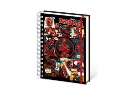Marvel A5 zápisník - Here Comes Deadpool