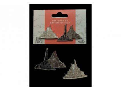 Pán prstenů – Set 2 sběratelských pinů (Minas Tirith a Hora osudu)